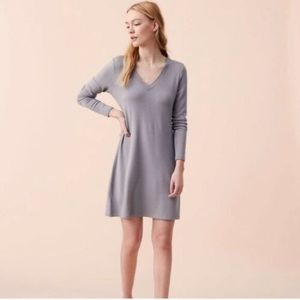 NWT Lou & Grey soft grey dress
